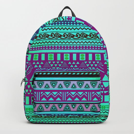 Inspired Aztec Pattern 4 Backpack