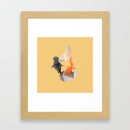 Butterfly Tail Goldfish. Framed Art Print