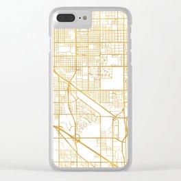 TUCSON ARIZONA CITY STREET MAP ART Clear iPhone Case