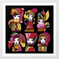 JESTER GIRLS Art Print