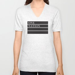 One Nation Unisex V-Neck