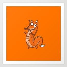 Dragon Fox Art Print