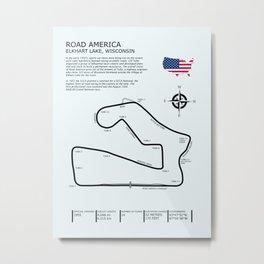Road America Circuit Metal Print