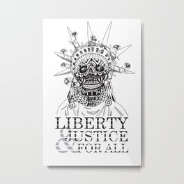 Liberty and Justice for all Metal Print