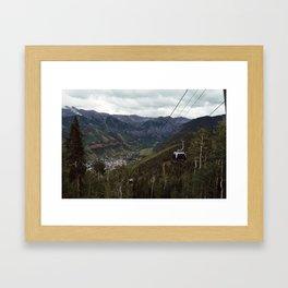 Telluride gondolas Framed Art Print