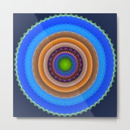 Colourful mandala with tribal patterns Metal Print