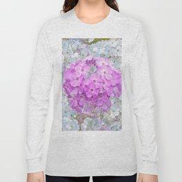 LILAC & WHITE PHLOX FLOWERS Long Sleeve T-shirt