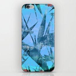 Vintage Bird of Paradise Blue Sunset iPhone Skin