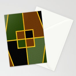 Color Block_Copse Green Gold Stationery Cards