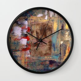 "Thinking in Color!..My Leo... Miaou miaou: Abstract Acrylic Painting of a lion, the ""cat"". Wall Clock"