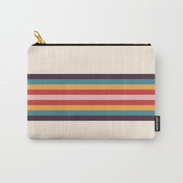 Palau - Classic Colorful Retro 70s Vintage Style Stripes Carry-All Pouch