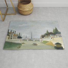 """Henri Rousseau """"Veduta del Pont de Grenelle, Trocadero"""" Rug"""