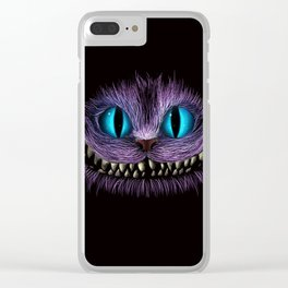 Cheshire Cat Animation Clear iPhone Case