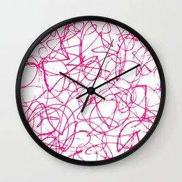 Modern Scribble Wall Clock
