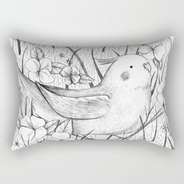Cockatiel in Grass Rectangular Pillow