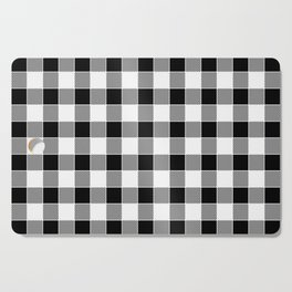Buffalo Check - black / white Cutting Board