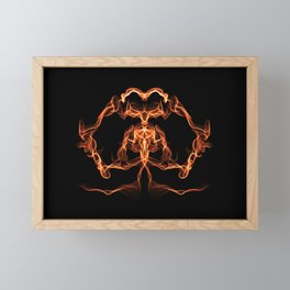 Goddess of the Flame - Abstract Art Framed Mini Art Print