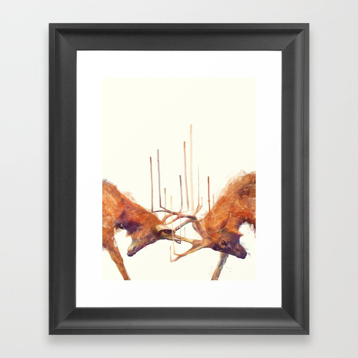 Stags // Strong Framed Art Print