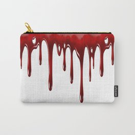 Blood Dripping White Carry-All Pouch