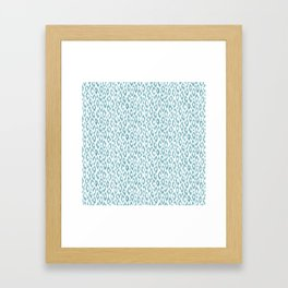 "Turquoise leopard pattern ""Leopold"" Framed Art Print"