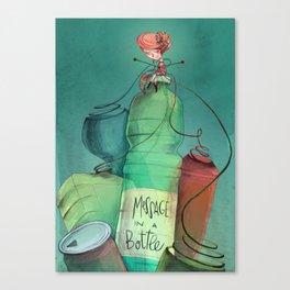 Plastic recycling Canvas Print