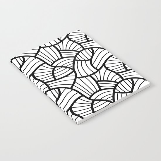 Abstract Lines Pattern Design 3 Notebook