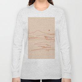 Line Mountain Sunset. Long Sleeve T-shirt