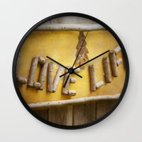 philosophy Wall Clocks featuring Simple Philosophy by Kimberley Britt