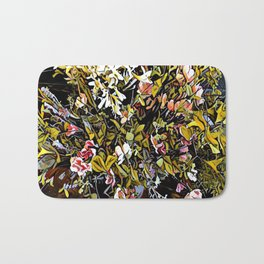 Yellow and Pink Bouquet of Flowes Bath Mat