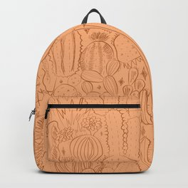 Cactus Scene in Orange Backpack