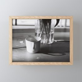 Cup of black coffee Framed Mini Art Print