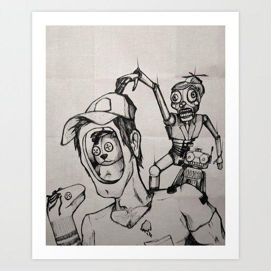 Imagination (sketch) Art Print