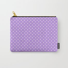 Mini Lilac with White Polka Dots Carry-All Pouch
