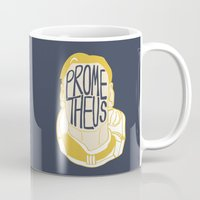 prometheus Mugs featuring Prometheus by SleptAwoke