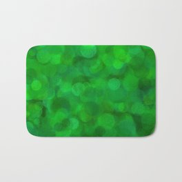 Fresh Bright Moss Green Abstract Bath Mat