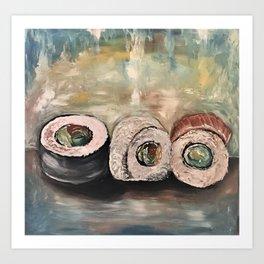 Sushi Art Sushi Painting Sushi Print Japenese Art Print