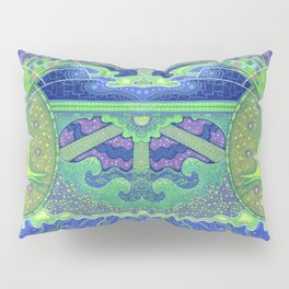 Dream of the fullmoon (mirrored version) Pillow Sham
