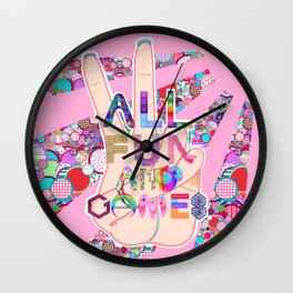 All Fun and Games Wall Clock