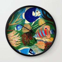 Magnificent sight sea world   Vue magnifique des bas fonds Wall Clock
