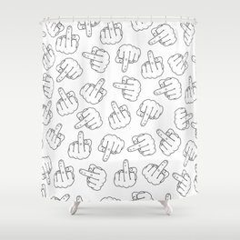 Middle Finger 1 Shower Curtain