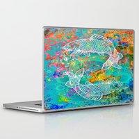 yin yang Laptop & iPad Skins featuring YIN & YANG by AlyZen Moonshadow