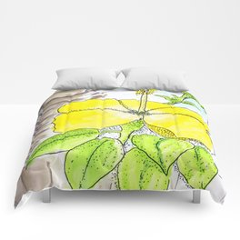 Mellow Yellow in Hawaii Comforters