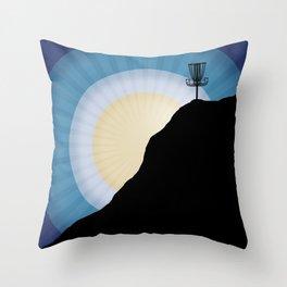 Basket On A Mountain Throw Pillow