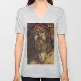 The Crucifixion Unisex V-Neck