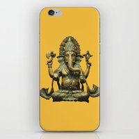 ganesha iPhone & iPod Skins featuring Ganesha by Justin Atkins