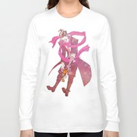 gundam Long Sleeve T-shirts featuring soft gundam by Cori Walters
