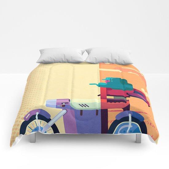 Sunset Biker Comforters