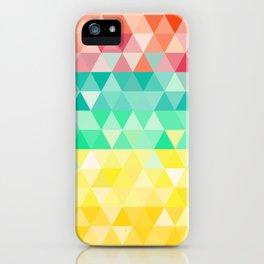 Rainbow triangles iPhone Case