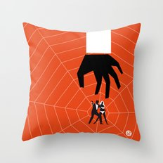 Orange Dr No Throw Pillow