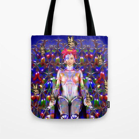 Robot Butterfly Tote Bag